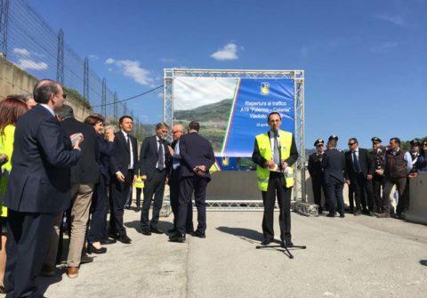 Apertura al traffico Catania-Palermo viadotto Himera